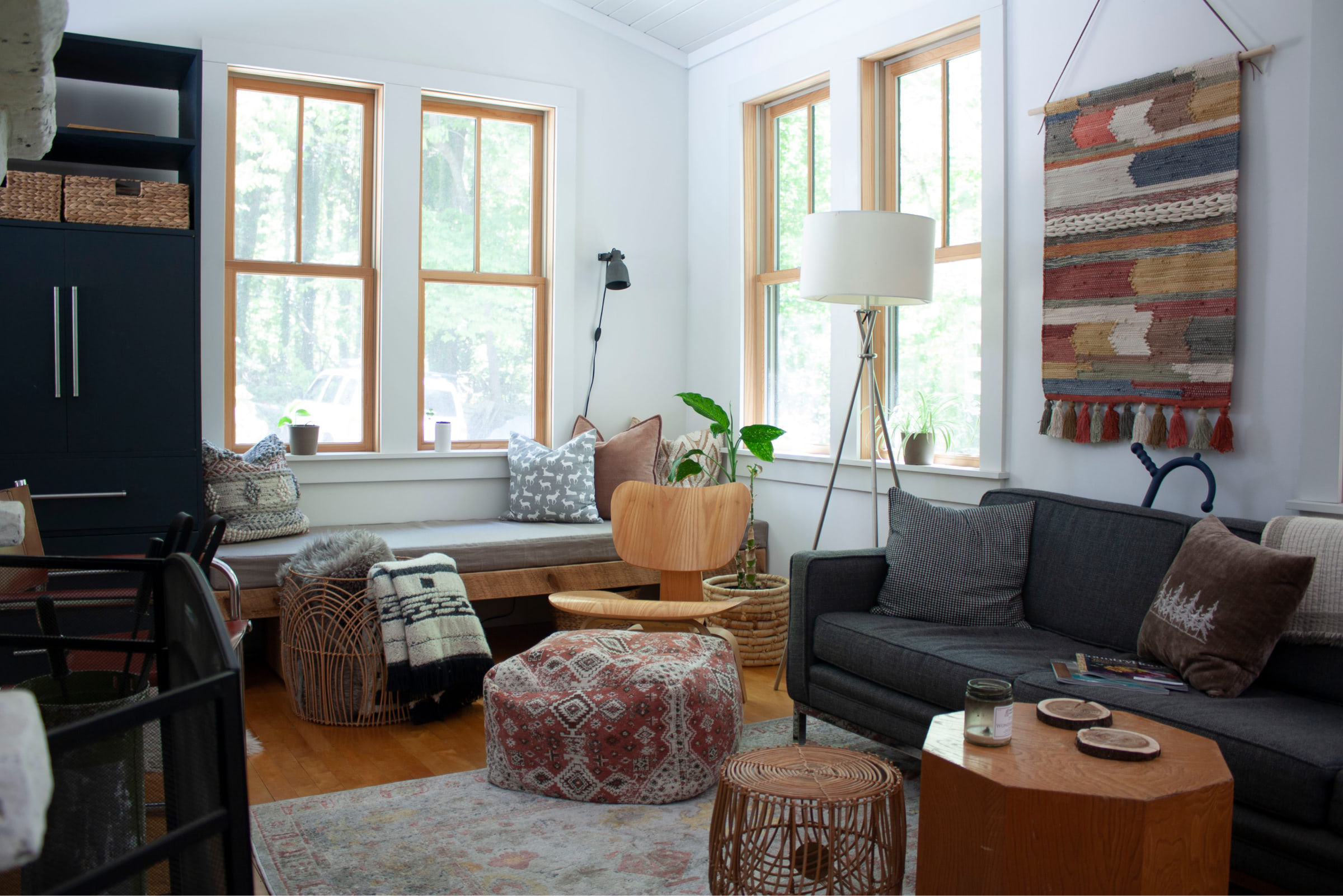 Kanuga farmhouse interior shot of the living room