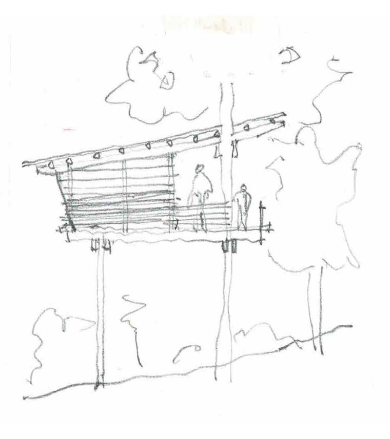 Architectural concept sketch