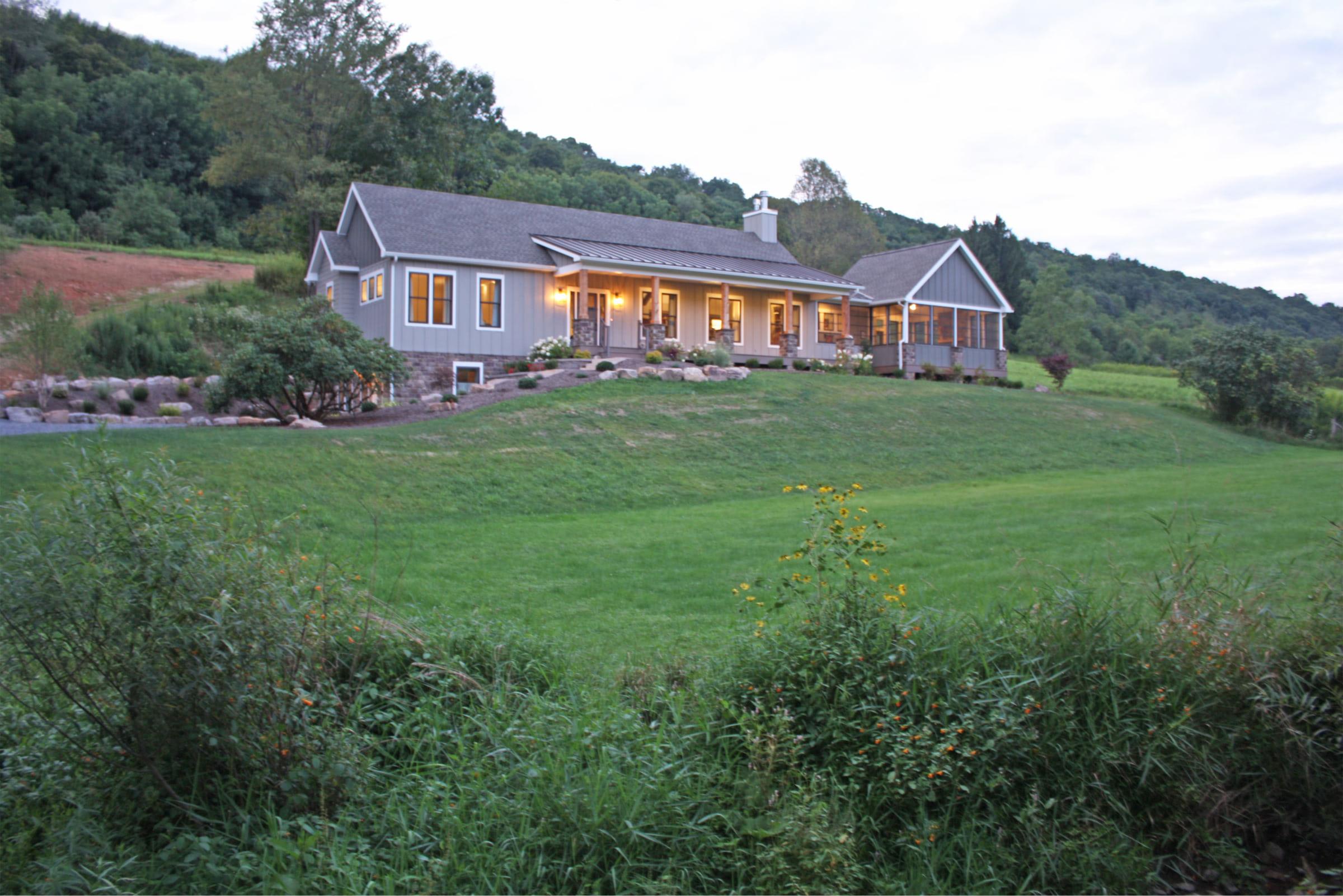 Upper 15 exterior shot of the full house