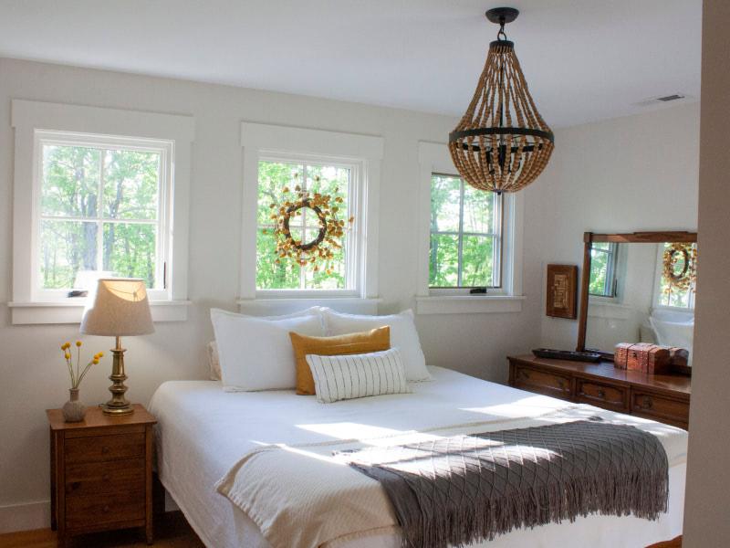 Interior shot of master bedroom