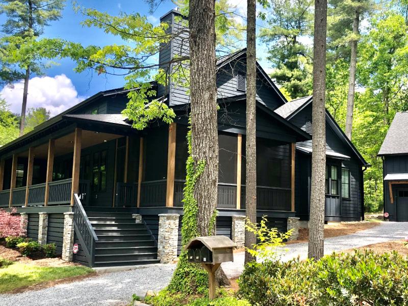 Exterior shot of Lake Cove house
