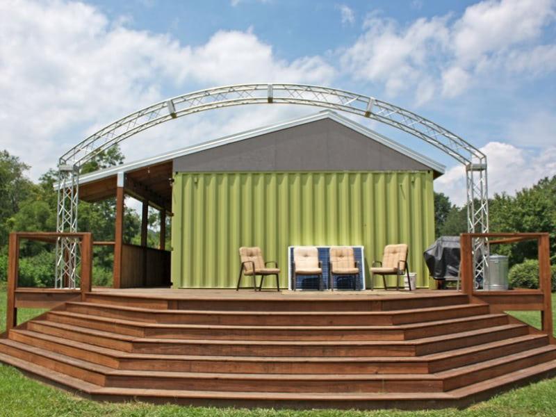 Exterior shot of Veterans Healing Farm build